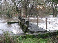 Ibsley Weir in full flood