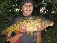 Vincent with a carp from Vincent's Lake