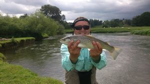 Paul Greenacre with a seatrout