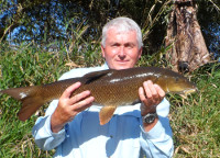 Barbel on the float